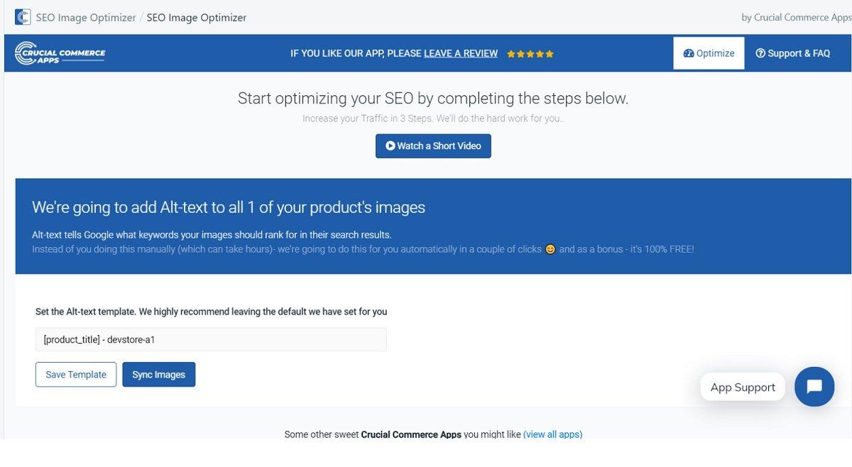 SEO Image Optimizer Shopify tool