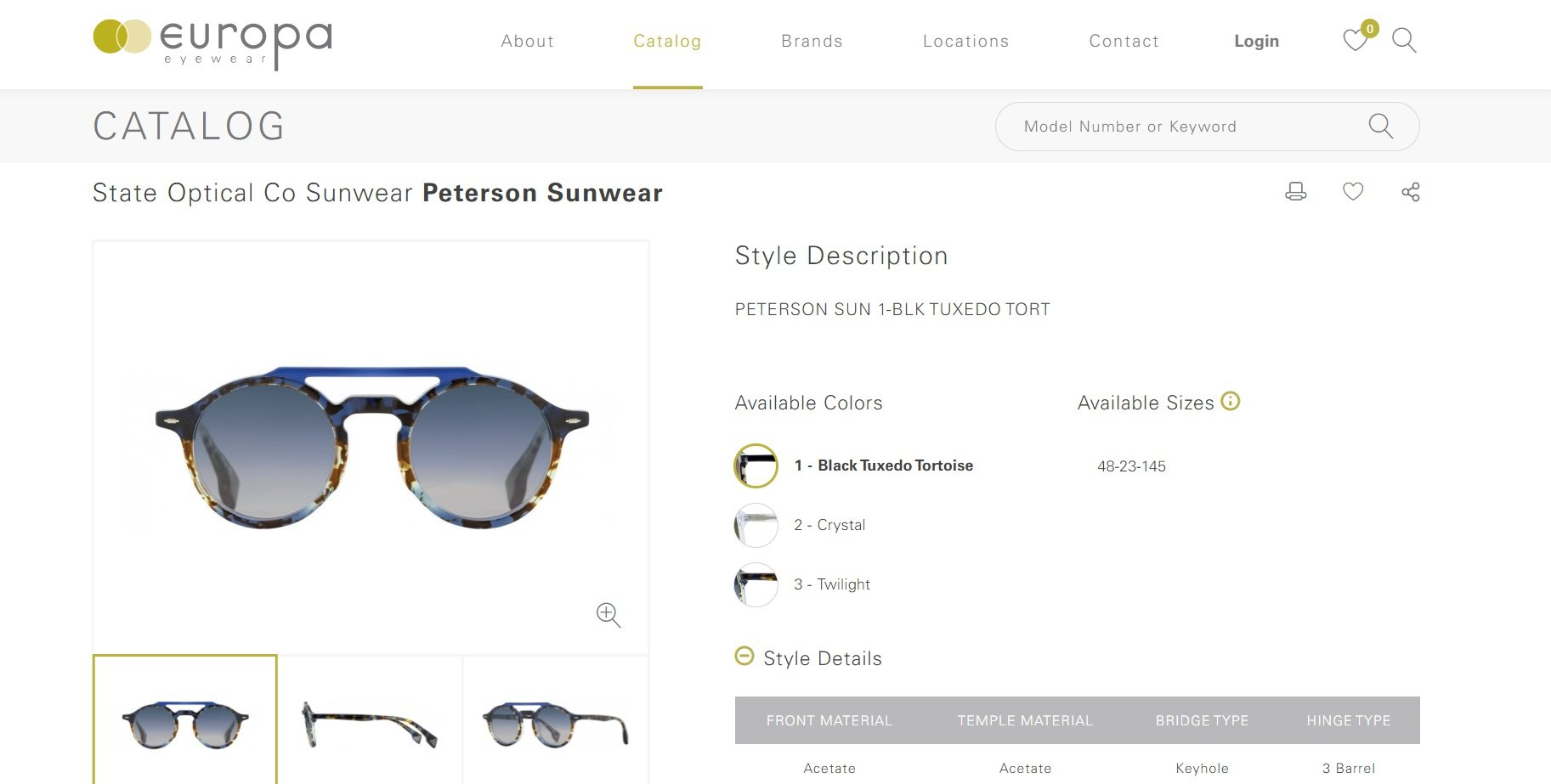 Example of an ecommerce store product page