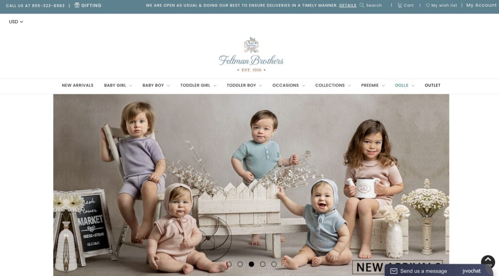 Feltman Brothers Vintage Baby Clothes