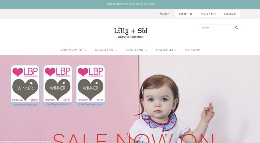 Lilly and Sid Baby Clothes