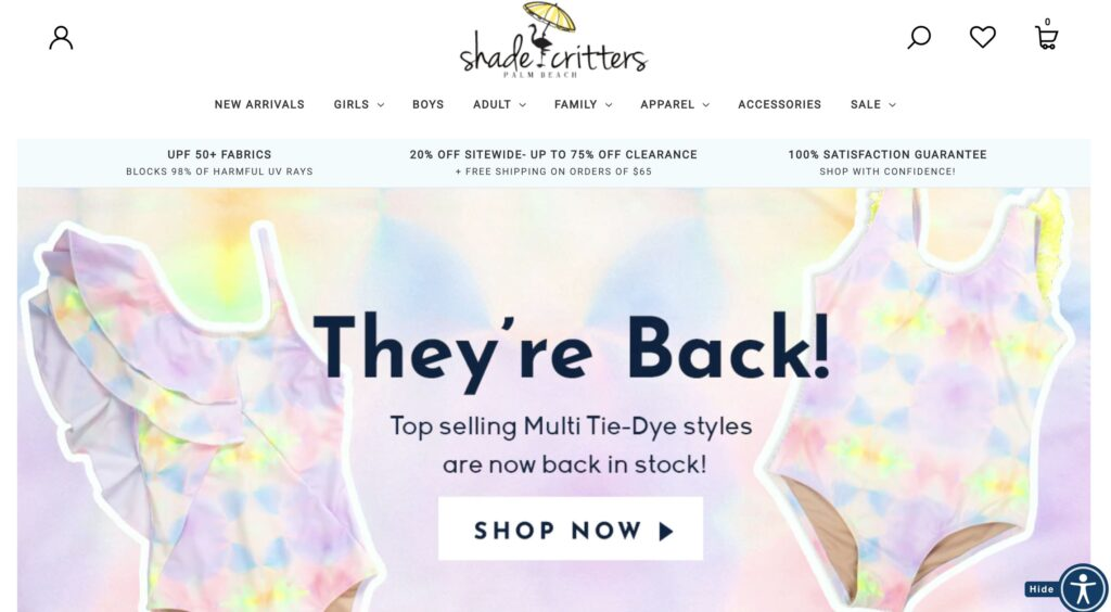 Shade Critters Kids Clothes