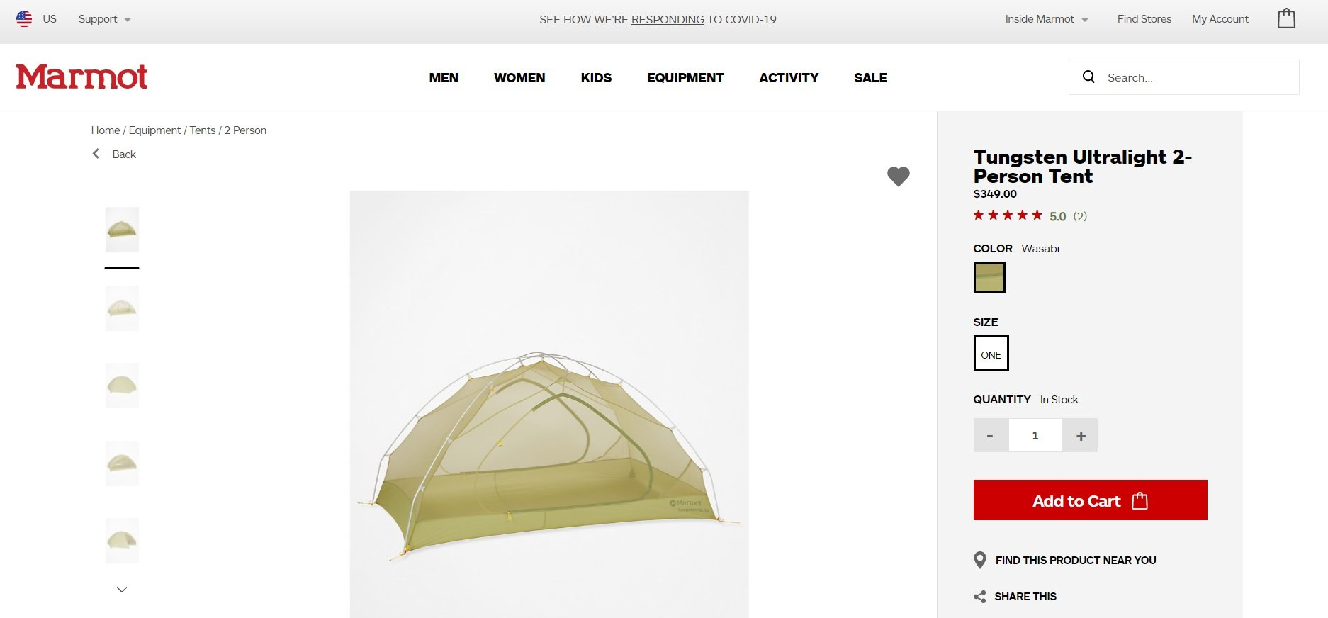 ecommerce store product page