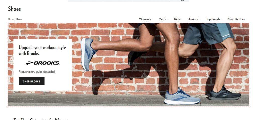 6pm best shoes website design