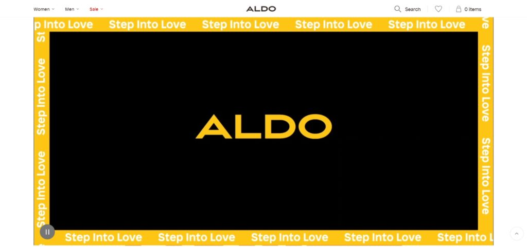 ALDO shoes best website design
