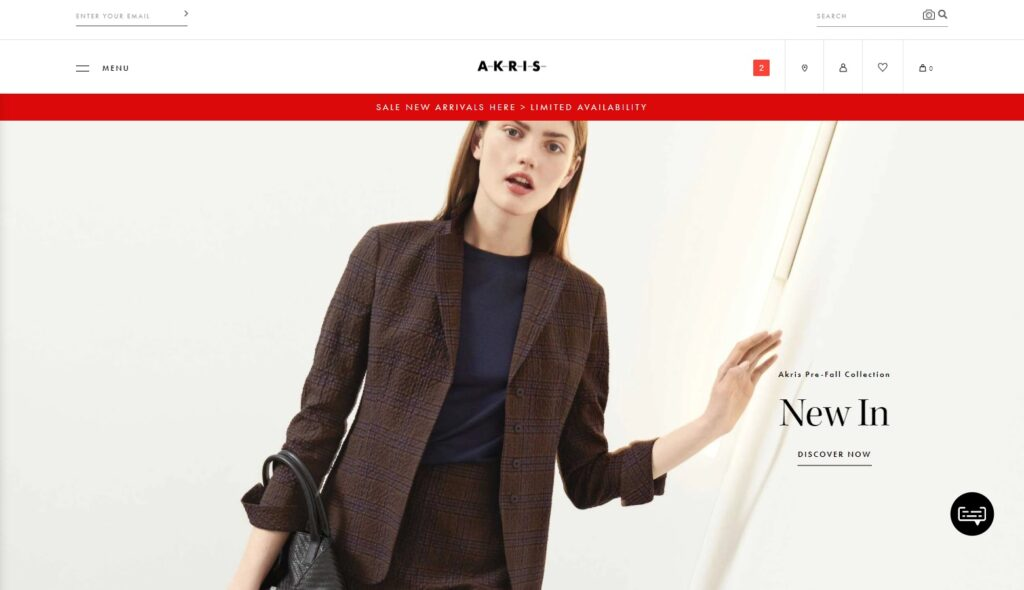 Akris website design