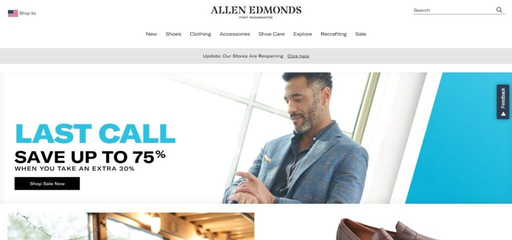 Allen Edmonds shoes best website design