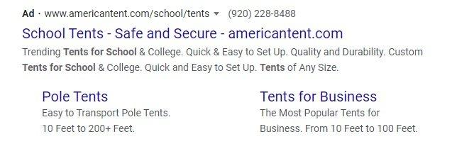 PPC google ad