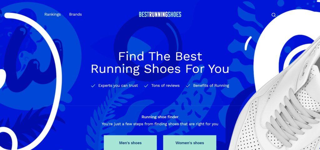 Best Running Shoes website design