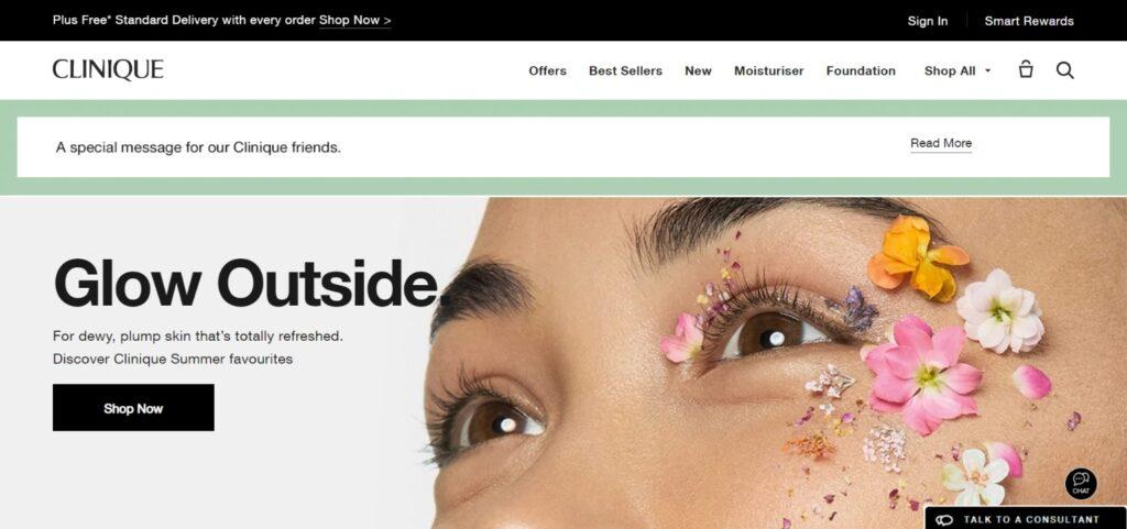 Clinique british website