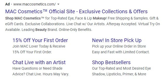 Good PPC ads examples