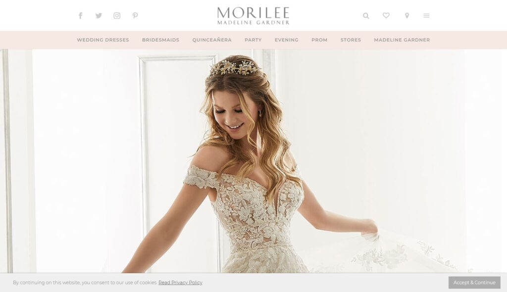 Morilee Website design