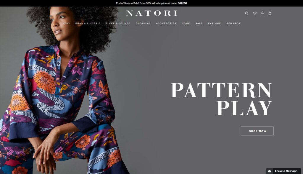 Natori website design