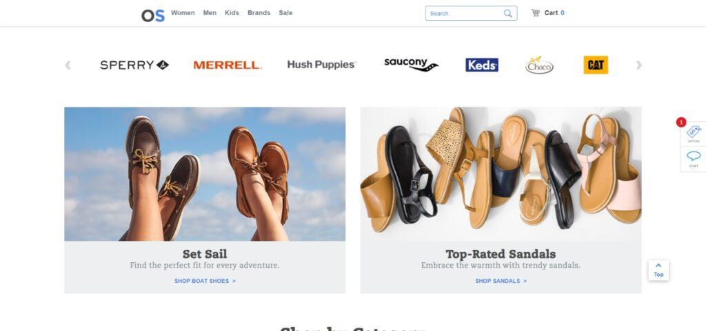 Online Shoes website design