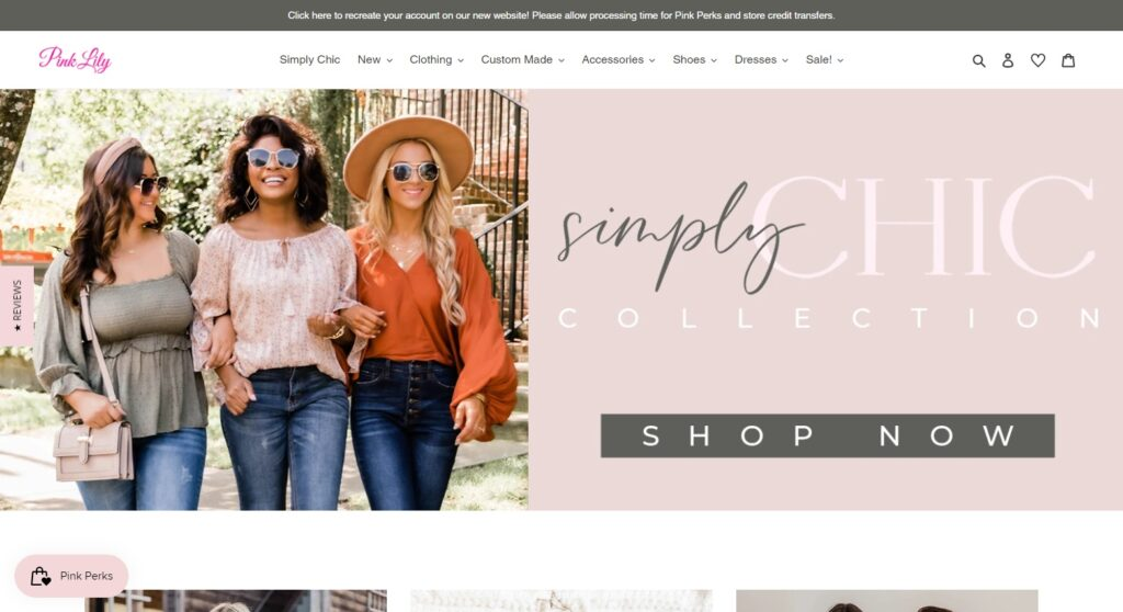 Pink Lily website design