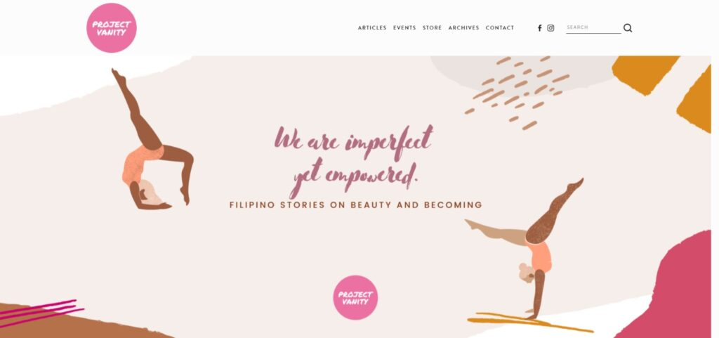 Project Vanity best beauty products website