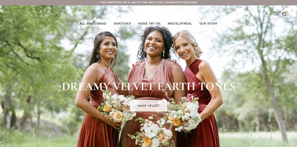 Revelry website design