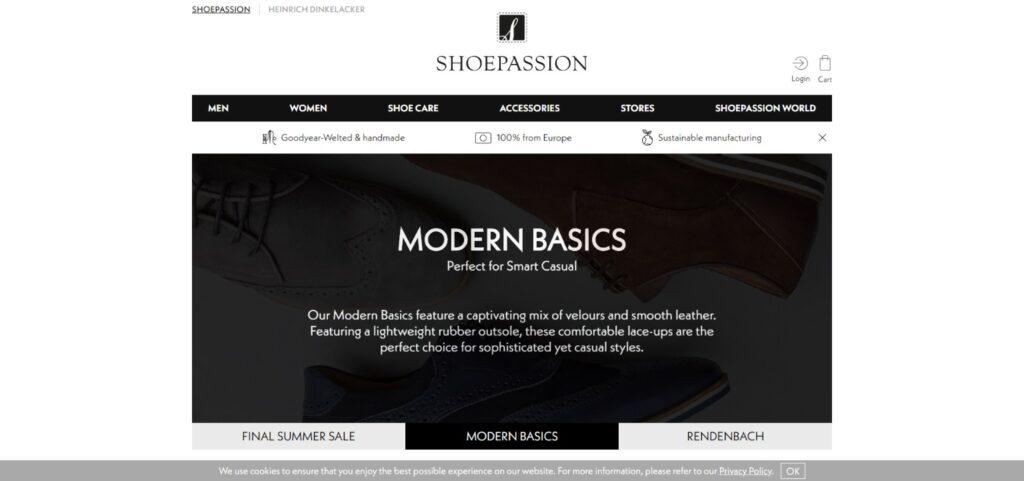 Shoepassion best shoes website design