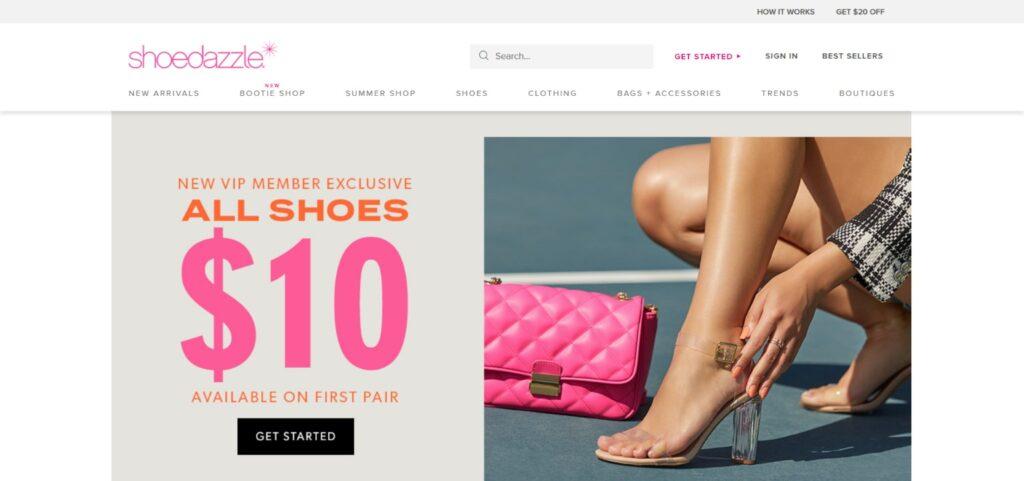 Shoedazzle best shoes website design