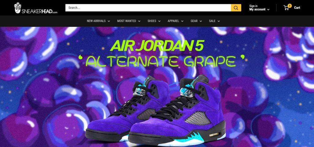 Sneakerhead best shoes website design