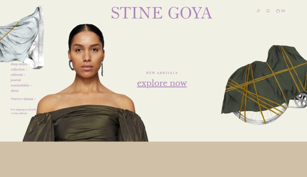 Stine Goya website design