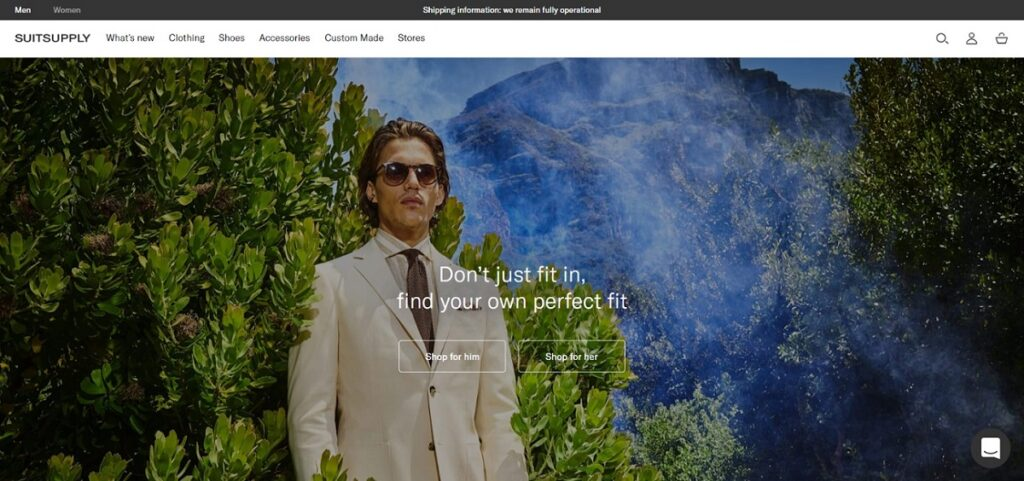 Suitsupply best shoes website design