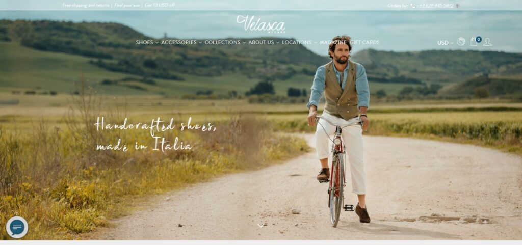 Velasca shoes website design
