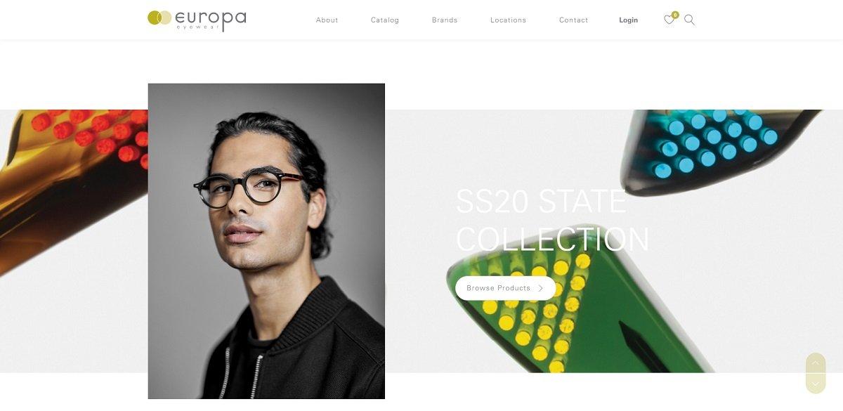 Europa Eyewear website design