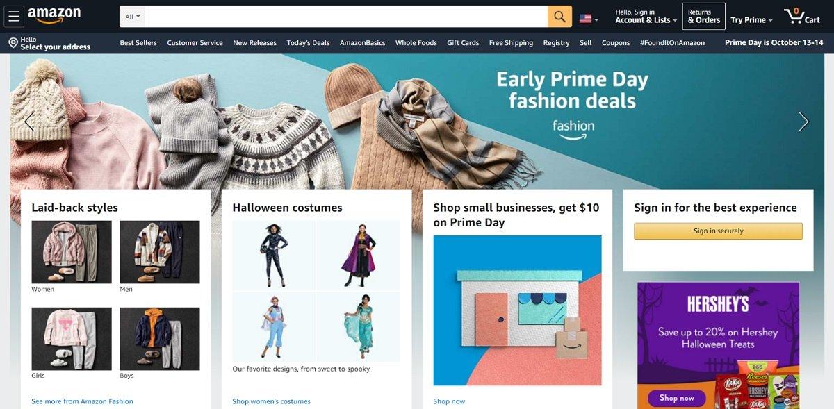 Amazon ecommerce store