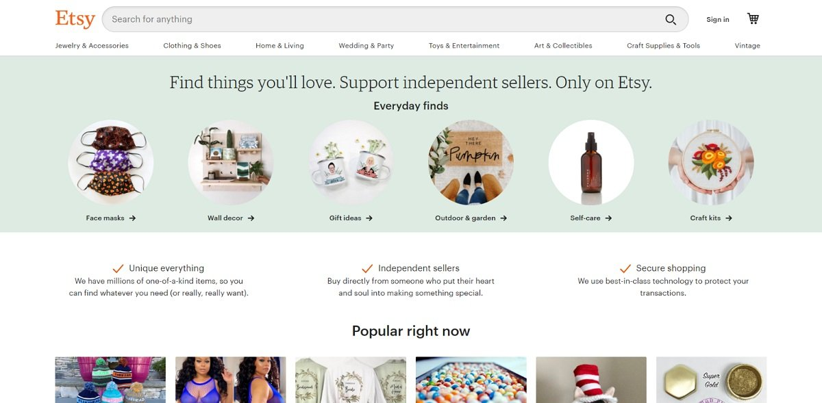 Etsy digital marketplace