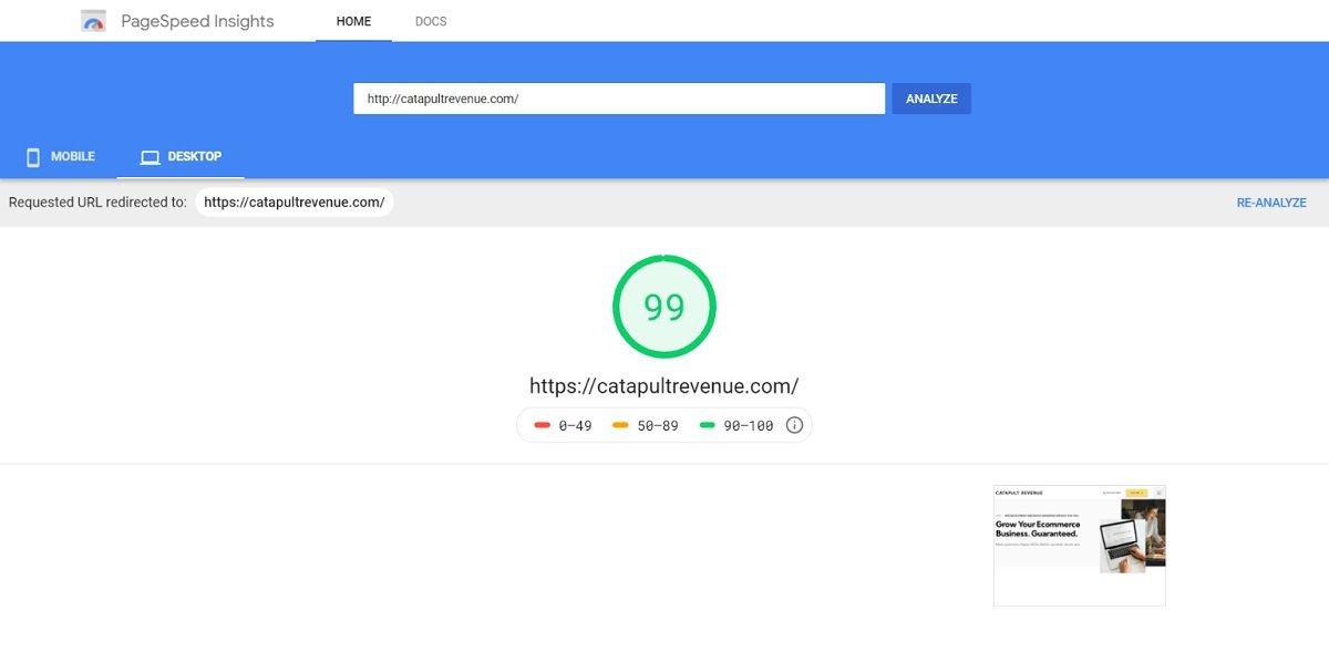 Website Speed Ecommerce