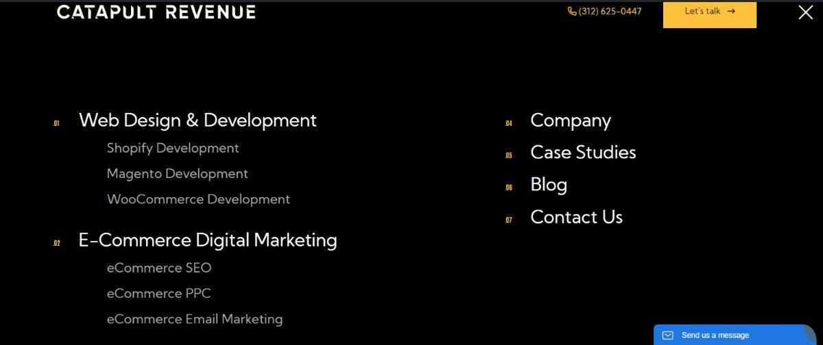 scannable website structure