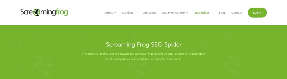 screaming frog seo spider for checking 404 pages