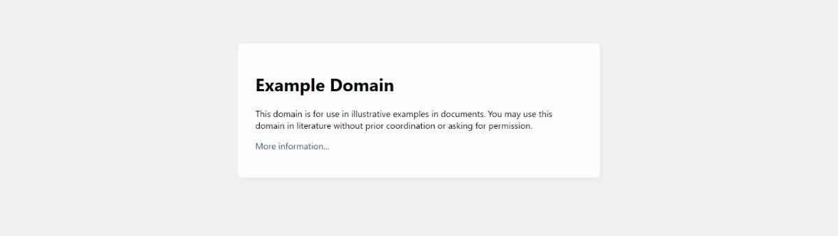 example.com domain
