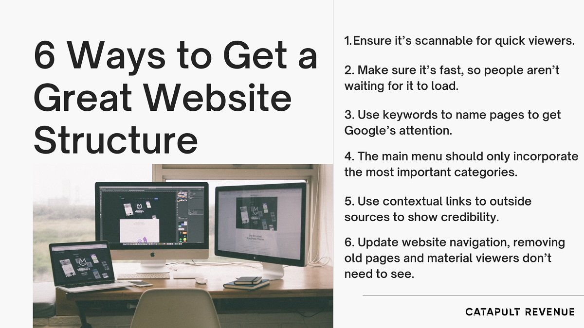 6 ways to get a great website structure