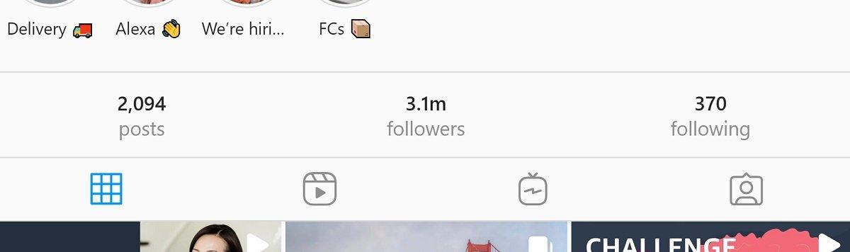 thriving instagram profile