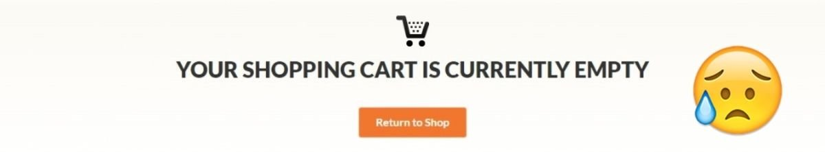 empty shopping cart ecommerce customers leaving